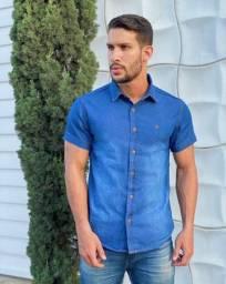 Camisas jeans masculina