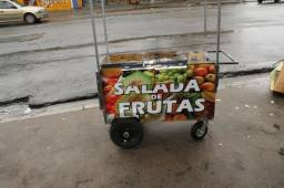 Carrinho de salada de frutas duplo araça