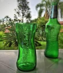 Vendo Jogo de 6 copos da Skol Beats 250ml verde!!!