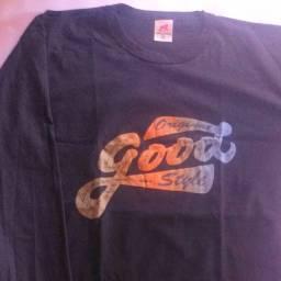 Camisetas Masculinas manga longa 100% algodão
