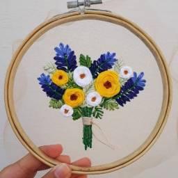 Bordado buquê de flores