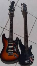 Guitarra e contra baixo