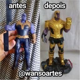 Transformo bonecos em Action figure / DC , Marvel etc