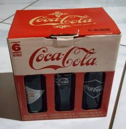 Kit 6 garrafas históricas Coca-Cola - 125 anos