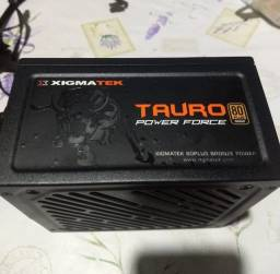 Fonte tauro 600w 80 plus