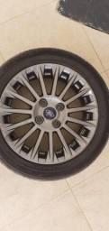 Jogo com 4 rodas e 4 pneus Aro 16 seminovos
