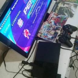 Entrego PS2 destravado com garantia+1conttole+ 10 jogos