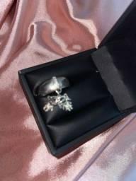 Vendo anel pingente menino e menina prata 925