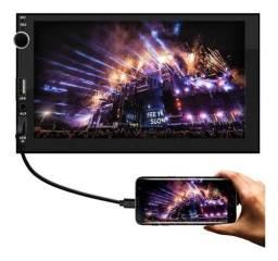 Multimídia Mp5 2 din Tela 7 polegadas Touch