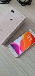 Iphone 8 Plus 256GB Rose Impecável com Caixa e fone