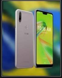 Smartphone (NoVo) Asus Zenfone Max Shot Plus 128GB 4GB ram tela 6,2 Câmera Tripla Prata