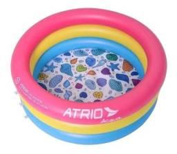 Piscina inflável infantil circular átrio capacidade 88L