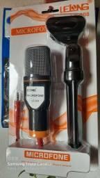 Microfone condensador profissional com tripé/ Preço imbatível
