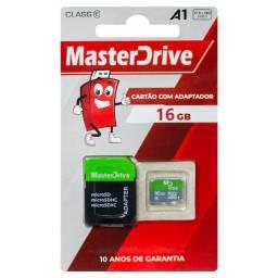 Cartão de Memória 16GB MasterDrive Original 10 Anos de Garantia