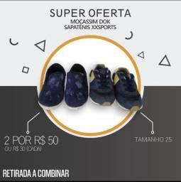 SUPER PROMOÇÃO DE SAPATOS INFANTIS MASCULINO