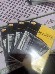DVDs curso e harmonia de acordeon