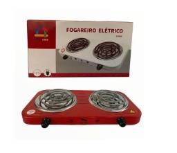 Fogão Fogareiro Elétrico Portátil 2 Bocas 2000w 220v Vermel