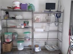 Estante de Metal para Lavanderia, Cozinha, Oficina e Estoque.