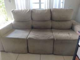 sofá 3 lugares retrátil