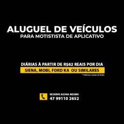 Aluguel de carro R$62 diária , pessoa física, cnpj e motorista de app uber 99 Joinville