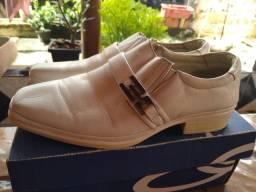 Sapato terapia , confort de couro puro cor branca