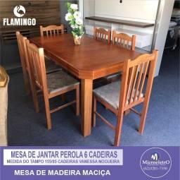 Mesa de Jantar Perola  6 Cadeiras
