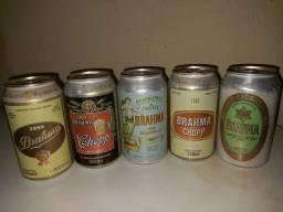 Latas de cerveja Brahma antigas - lacradas
