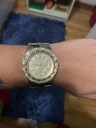 Relógio EURO folheado a ouro