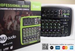 Mini Mesa De Som 6 canais, Phatom Power, Bluetooth