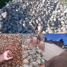 Seixo Japurá areia pedra brita pedra rachão entrega rápida