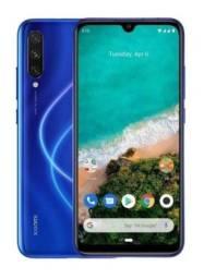 Vende-se Smartphone Xaomi MI A3 Cor Azulón, 128 GB, 4 GB RAM, Dual Sim, semi novoc/nt