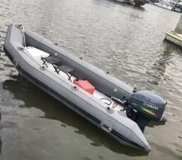 Barco inflável 4 metros com carreta rodoviária!!