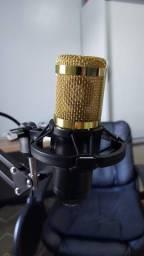 Kit Microfone Bm800 + Pop Filter + Aranha + Braço Articulado + Cabo XLR Santo Angelo de 5m