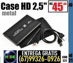 """Case para HD2.5"""" (entrega grátis)"""
