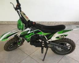 Mini moto Cross 50cc - só partida manual