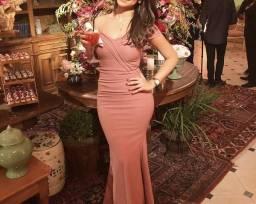 ae5e9ccbb6 Vendo vestido rosa chá rosé rosa claro madrinha