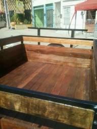 Carretinha sem-reboque toda na madeira fabricação e venda