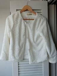 Casaquinho branco meia manga