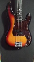 Baixo Fender Precision Sunburst Vendo ou Troco