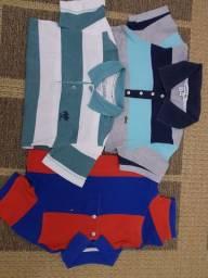 Infantil, lote, camisas, crianças, menino, blusa
