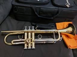 Trompete Eagle 0508 Dourado e prata
