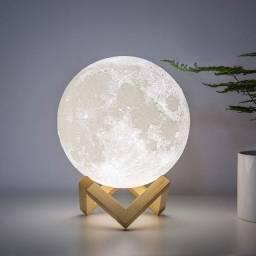 Luminária Lua Cheia 3D Troca de Cor (Nova e com Garantia)