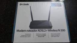 Modem Roteador Wireless D-link 300mbps Dsl-2740e 2 Antenas