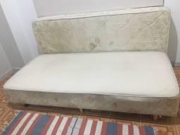 Cama Box solteiro completa base e colchão