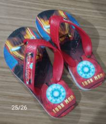 Chinelo Infantil Iron Man