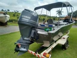 lancha yamaha 90hp pantanaltica SLX 17 pés Barco Mercury Evenrude