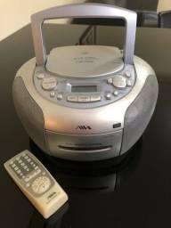 Aparelho de som marca Aiwa com rádio e CD-ROM