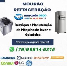 Técnico de geladeira, máquina de lavar e ar condicionado.