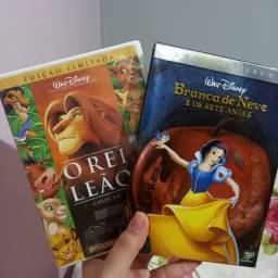 DVD's Branca de Neve e O Rei Leão I,II e III