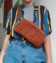 Título do anúncio: pochete feita à mão em crochê
